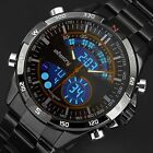 INFANTRY Mens LED Digital Quartz Wrist Watch Chronograph Black Stainless Steel <br/> ☀Genuine INFANTRY☀Ship From US☀BUY 1, GET 1 AT 10% OFF