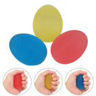 Pack 3 Rubber Hand Therapy Exercise  Egg Shaped Ball Kit