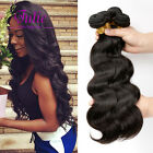 4 Bundles Brazilian Virgin Body Wave Human Hair Extensions With Lace Closure