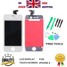 LCD Touch Screen Glass Digitizer Repair for iPhone 4 White GSM T-mobile