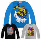 Boys Long Sleeved Teenage Mutant Ninja Turtles T-Shirt New Kids TMNT Top 4-10Yrs