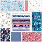 MILLEFLEUR by DASHWOOD - BLUE PINK NAVY MODERN FLORAL100% COTTON FABRIC quilting