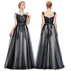 Appliques Short/ Long Tulle Formal Ball Gown Party Prom Bridesmaid Evening Dress