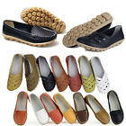 Womens Flat Comfort Leather Loafers Casual Boat Shoes Ladies Size 6.5-8.5 Sale