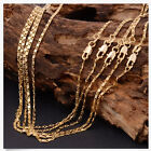 1Pcs 18-26inch Fashion 18K Yellow GOLD filled Rolo CHAIN NECKLACE  MO