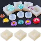 Practical DIY Jewelry Tool Silicone Hemisphere Clear Pendant Resin Casting Mould