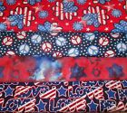 PATRIOTIC #3  FABRICS Sold INDIVIDUALLY NOT AS A GROUP By the HALF YARD
