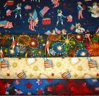 PATRIOTIC #4  FABRICS Sold INDIVIDUALLY NOT AS A GROUP By the HALF YARD
