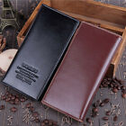 Fashion Mens Soft Leather Long Trifold ID Credit Card Holder Wallet Purse Black