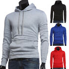 Muscle Mens Slim Fit Tees Blouse T-Shirt Casual Hooded Long Sleeve Pullover Tops