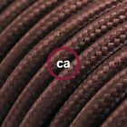 RM13 Brown Solid Round Electric Cable covered by Rayon fabric