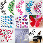 12X 3D Butterfly Wall Stickers Art Sticker Decals Home Room Decorations Decor RR