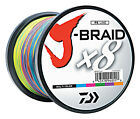 Daiwa J-Braid X8 Braided Fishing Line - 1650 Yds (1500 M) Multi-Color Line