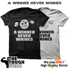 A WINNER NEVER WHINES Gym Men's Bodybuilding T-shirt for Bodybuilding & Fitness