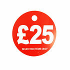 £25 ROUND PRICE DISPLAY CARD  HANGER SWING TICKETS FOR MARKET & RETAIL DISPLAY