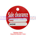 'SALE CLEARANCE' ROUND PRICE DISPLAY CARD SWING TICKETS FOR RETAIL SALE DISPLAY