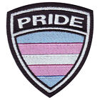 TRANSGENDER GAY PRIDE CREST FLAG EMBROIDERED PATCH