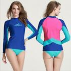 2016 NEW Stitching Color Women Long Sleeve Wetsuit Shirt Diving Swimming Tops