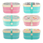 Sass & Belle Double Layer BENTO LUNCH BOX   Food Container School Work Box