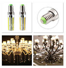 E14 152 LED Dimmable 3014SMD White/warm White Corn Bulb Light Silicone Lamp