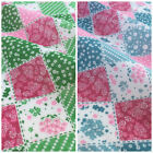 Shabby Chic Patchwork Polycotton Fabric 112cm Wide Per Half Metre