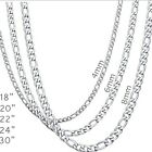 Stainless Steel Titanium Figaro Chain Necklace Link Curb Cuban Chunky Biker Punk