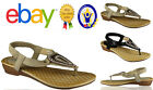 WOMENS FLAT SHOES LADIES GLADIATOR WEDGE CASUAL SANDALS SIZE SLINGBACK TOE GIRLS