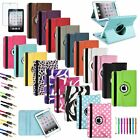 Rotating 360 Smart Cover PU Leather Case Stand For Apple iPad Mini 1/2/3 Retina
