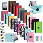 360 Leather Case Cover+Matte Film+Cable For iPad Mini 1 2 3 Retina Display