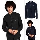 Brave Soul Mens Borgia Button Up Shirt New Designer Chambray Cotton Top