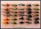 30 Trout Fishing Flies GOLD HEADED NYMPHS 33J 10, 12 OR 14 hooks Barbed Barbless