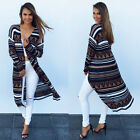 New Autumn Women Casual Long Sleeve Printing Top thin Outwear Coat Long Cardigan