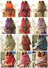 New Women's Fashion Soft 100% Cashmere Pashmina Tassel Shawl Wrap Scarf Scarves