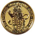 2016 U.K. 25 Pound 1 4 oz Gold Queen's Beast BU The Lion