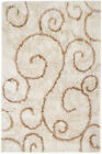 Beige Contemporary Machine Made Swirls Curls Curves Area Rug Abstract AMB0754
