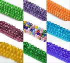 "Assorted Fiber Optic Cat's Eye Round Stone Beads For Jewelry Making 14"" In Bulk"