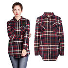 Brave Soul Charles Womens Brushed Cotton Lumberjack Checked Long Sleeved Shirt
