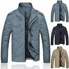 New Mens Jacket Warm Casual Slim Fit Military Zip Up Coat Overcoat Outwear Tops