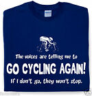 GO CYCLING AGAIN mans funny cycling t shirt cyclist logo slogan tee famousfx