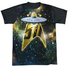 Star Trek 50th Anniversary Enterprise Single Sided Black Sublimation Adult T-shi on eBay