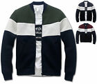 Mens Slim Coloration Baseball Jumper Blouson Jacket Blazer Outwear Top W015- S/M