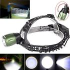 5000LM XM-L T6 LED Headlamp Head Light Torch Zoomable 2 X 18650 Battery Charger