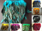 Rooster Hackle Coque Feather Fringe Craft Trim Sewing Costume Millinery 8 Colors