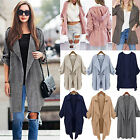 Womens Long Sleeve Waterfall Duster Coat Cape Cardigan Autumn Thin Jacket Tops