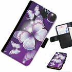 BUTTA17 BUTTERFLY PRINTED LEATHER WALLET/FLIP PHONE CASE COVER FOR ALL MODELS