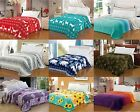 "CaliTime Soft Fluffy Fleece Throw Blanket Bedspread Bedding Decor King 102""X87"""