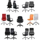 Adjustable Executive Mesh/PU Leather Swivel Computer Desk Task Office Chair D7C1