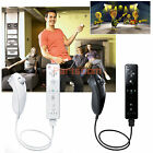 Remote And Nunchuck Controller Set for Nintendo Wii Game Case Skin Black