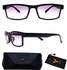 Unisex Men & Women Rectangular Square Shape Bifocal Sun Reader Sunglasses