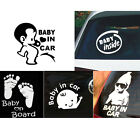 Baby In Car Baby on Board Safety Sign Cute Car Decal / Vinyl Footprint Sticker
